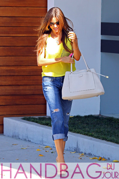 Sofia-Vergara-is-seen-on-August-7,-2011-in-Los-Angeles,-California.-white-tote-bag