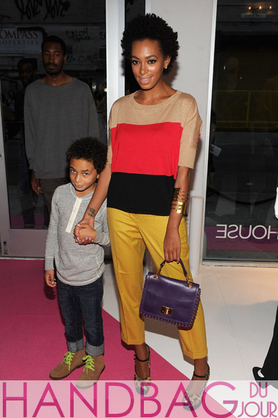 Solange-Knowles-(L)-with-her-son-Julez-attend-INC-International-Concepts-at-Macy's-press-preview-at-Openhouse-Gallery-on-August-17,-2011-in-New-York-City.