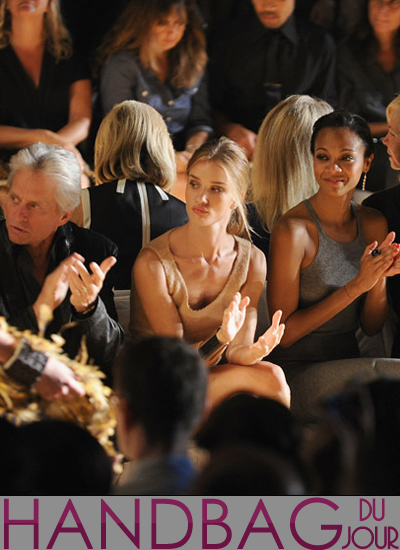 Actresses-Zoe-Saldana-and-Rosie-Huntington-Whiteley-Michael-Douglas-front-row-at-the-Michael-Kors-Spring-2012-fashion-show-at-Mercedes-Benz-Fashion-Week