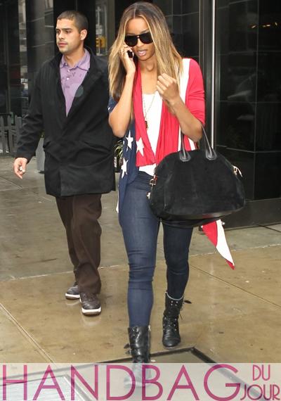 Ciara Givenchy Antigona Suede Duffle Bag
