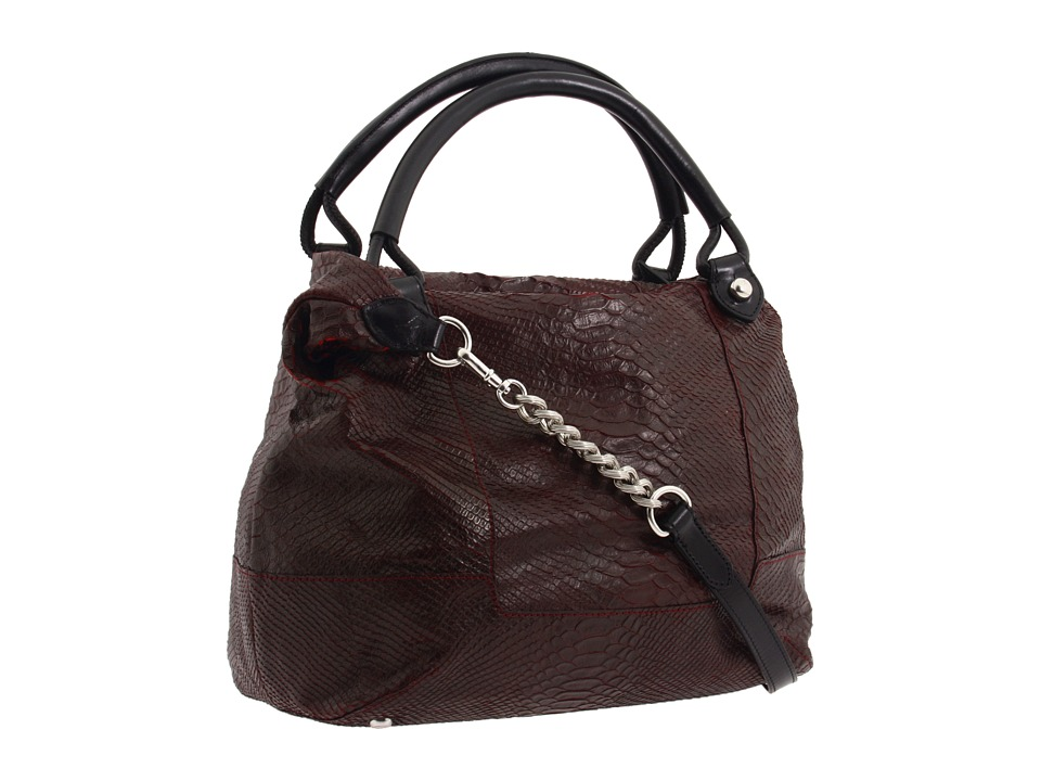Olivia Harris by Joy Gryson Python Embossed Trapezoid Satchel fall 2011