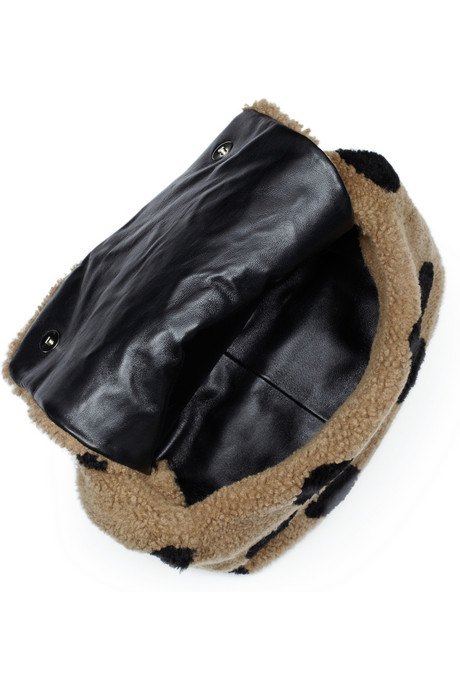 Marc Jacobs Spotted Teddies shearling polka dot hobo bag handbag du jour inside