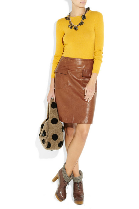 Marc Jacobs Spotted Teddies shearling polka dot hobo bag handbag du jour on model