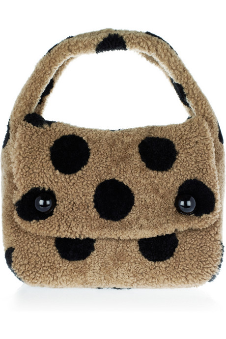 Marc Jacobs Spotted Teddies shearling polka dot hobo bag handbag du jour