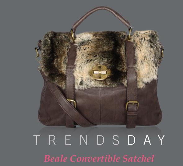 547e6264ea ... 2011 Handbag du Jour ·  Chocolate-Brown-Leather-Satchel-with-Faux-Fur-Trim Shop today s best online  sample   flash sales at ...