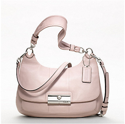 Coach Kristin Leather Breast Cancer Research Foundation Hippie shoulder bag in ballet pink