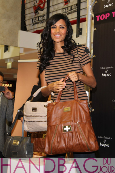 German-TV-personality-Collien-Ulmen-Fernandes,-presented-her-bagsac-collection-at-the-Alexa-shopping-mall-Berlin,-Germany