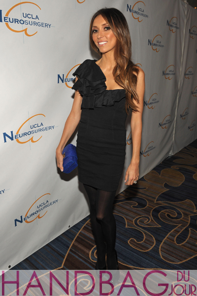 Giuliana Rancic hosted the UCLA Department of Neurosurgery Visionary Ball at the Beverly Wilshire hotel dressed in an Isabel Marant dress, accessorized with Brian Atwood pumps and a blue CC SKYE Clutch