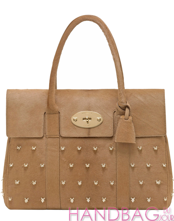 Mulberry gets foxy! Splurge on this deer brown haircalf Mulberry Bayswater  bag with fox face rivets 89a954ce1d68e