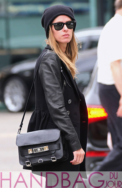 Nicky-Hilton-is-seen-in-Los-Angeles,-California-Proenza-Schouler-PS11-Classic-textured-leather-shoulder-bag