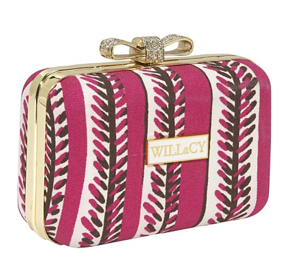 WILLaCY-Bella-Clutch-in-Pink-Multi-breast-cancer-awareness-month