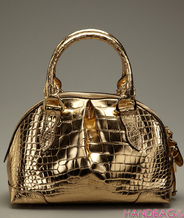 Burberry Prorsum Alligator Satchel gold metallic - Handbag du Jour
