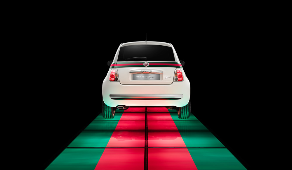Fiat 500 by Gucci in white