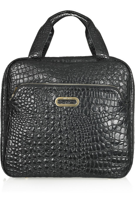 Jimmy Choo Tony crocodile-effect leather shoe case handbag trends - square totes