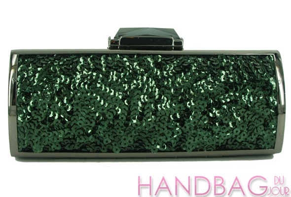 KOTUR-for-J.-Crew-Colony Green Briar sequin clutch