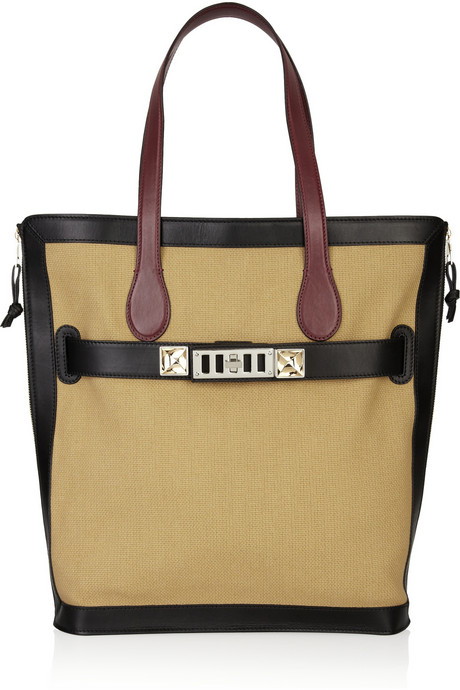 Proenza Schouler PS11 canvas and leather tote handbag trends - square totes