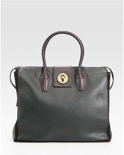 Yves-Saint-Laurent-YSL-Muse-Two-Cabas-Top-Handle-Bag handbag trends - square tote bags