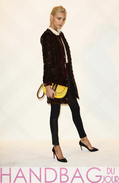 Anja-Rubik-attends-the-Burberry-Paris-boutique-opening-at-British-Embassy-on-December-1,-2011-in-Paris,-France.-yellow-clutch