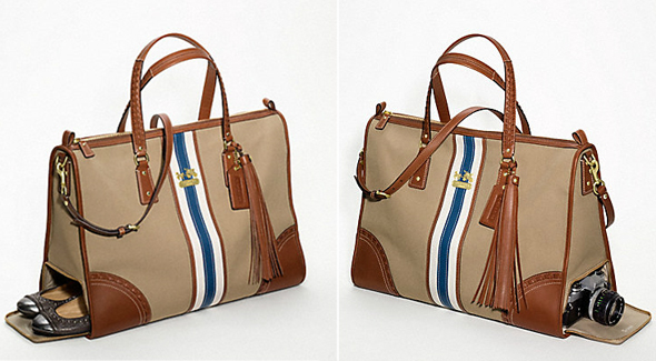 Coach Fashion Foie Gras Tote sides