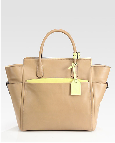 Reed Krakoff Atlantique Tote Bag in tan and yellow