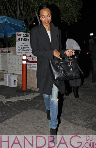Zoe-Saldana-was-spotted-leaving-Matsuhisa-restaurant-in-Beverly-Hills,-CA-carrying-the-Alexander-McQueen-small-whipstitch-Folk-tote