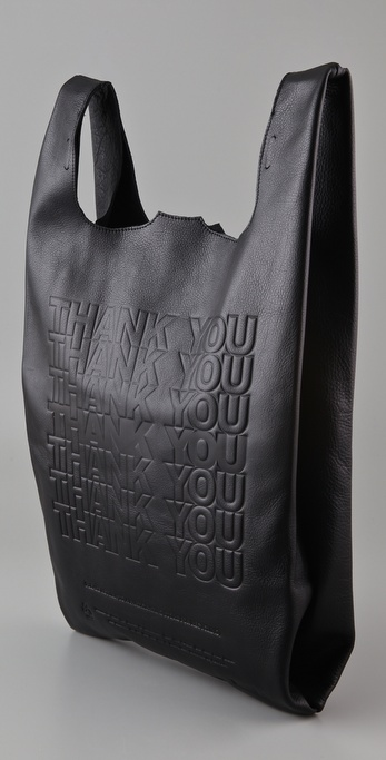 "Cast of Vices Corner Store ""THANK YOU"" Leather Tote"