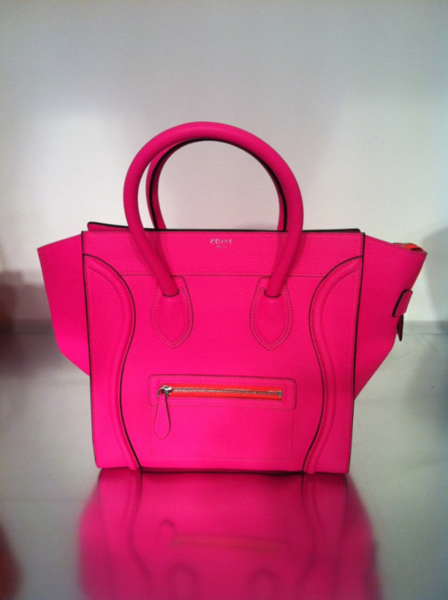 Celine luggage tote in hot pink resort 2012 accessories handbags