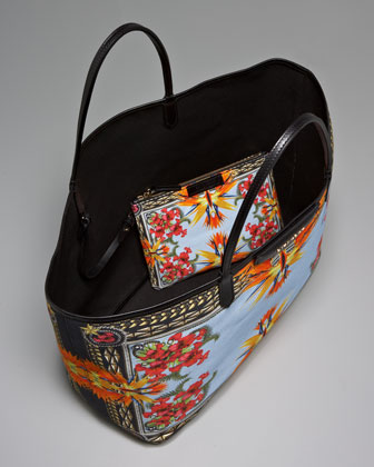 Givenchy Birds of Paradise Tote - interior