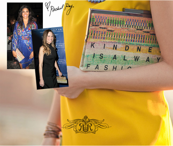 Rachel Roy - 'Kindness is Always Fashionable' Ghana Clutch - Hilary Swank