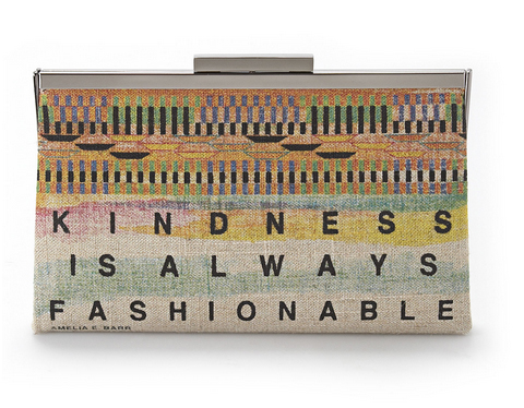 Rachel Roy 'Kindness is Always Fashionable' Ghana Clutch - front