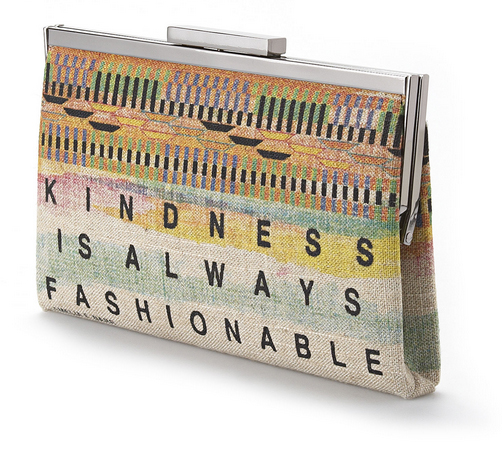 Rachel Roy 'Kindness is Always Fashionable' Ghana Clutch - side view