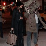Ryan Gosling and Eva Mendes in NYC Salvatore Ferragamo Leather Tote Bag 2