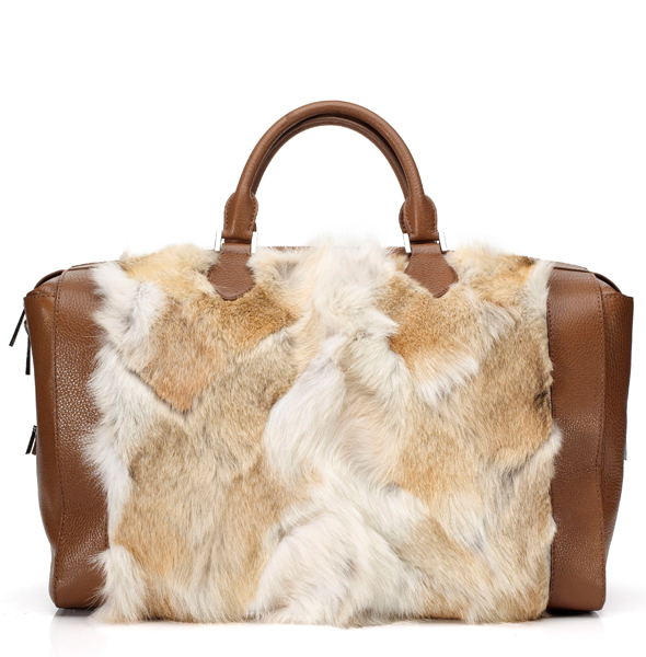 Michael Kors Accessories FW 2012 Barrington large zipper fur satchel