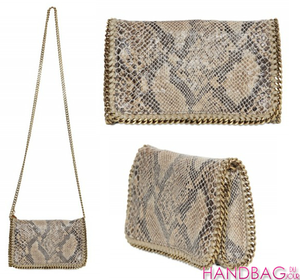 Stella McCartney eco-snakeskin Falabella Clutch - as seen on Naomi Watts