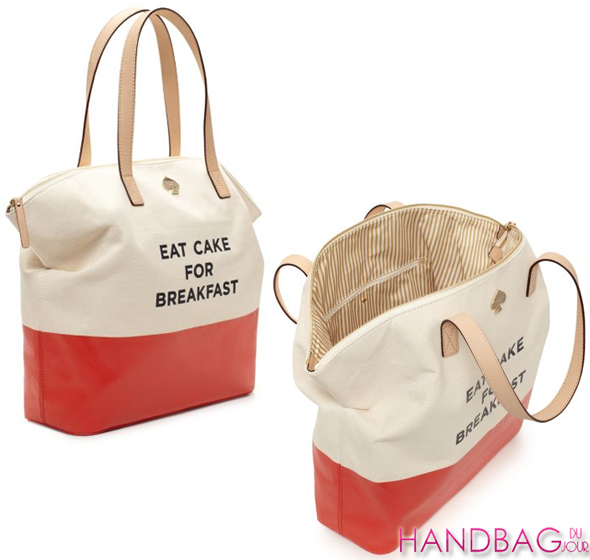 kate spade new york eat cake for breakfast terry tote - details