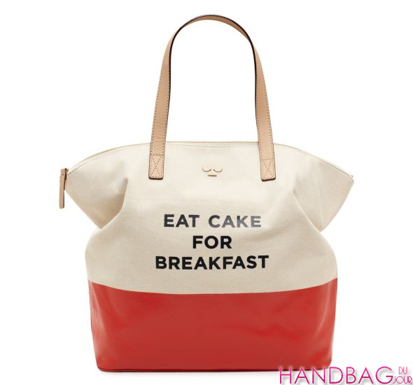 kate spade new york eat cake for breakfast terry tote