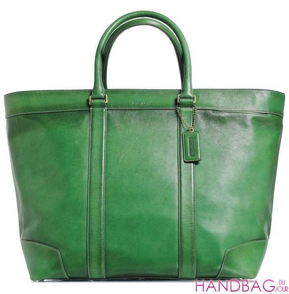 Coach The Legacy Collection -green leather iconic women's duffle bag