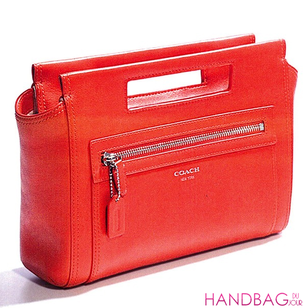 Coach The Legacy Collection red leather clutch