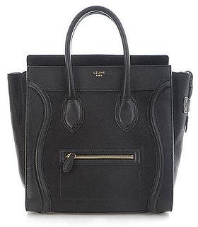 Celine Black Boston Leather Luggage Tote