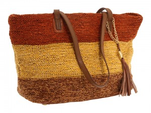 Columbier Simple Tote from Olivia Harris by Joy Gryson in toffee multi (as seen on Beyonce)