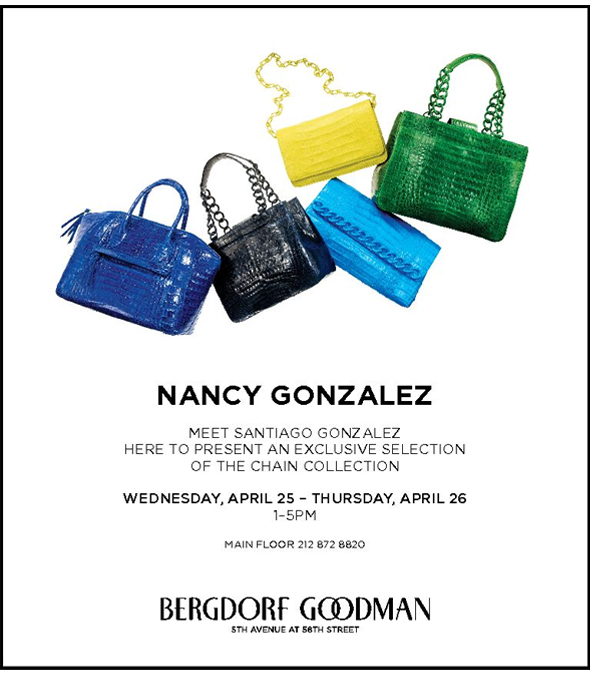 Meet Santiago Gonzalez of Nancy Gonzalez at Bergdorf Goodman
