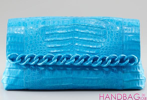 Nancy Gonzalez Limited Edition Chain Collection at Bergdorf Goodman - blue crocodile clutch
