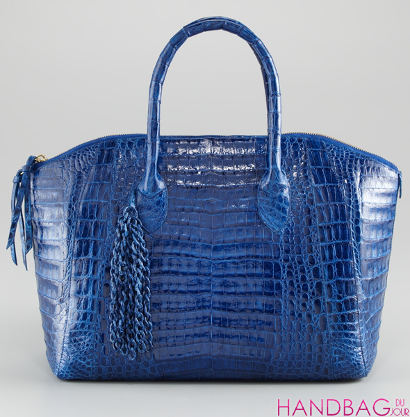 Nancy Gonzalez Limited Edition Chain Collection at Bergdorf Goodman - blue crocodile satchel