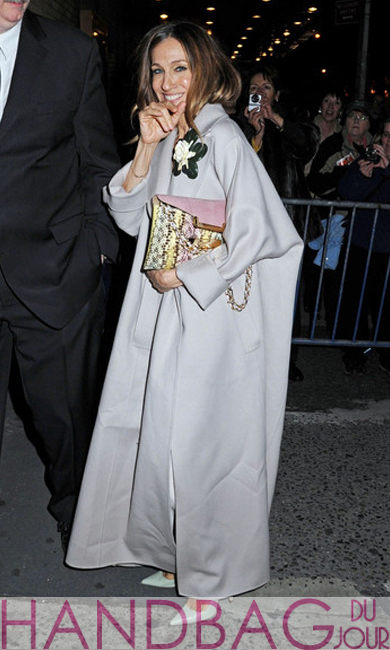 Sarah Jessica Parker at the Imperial Theatre for the opening night of 'Nice Work If You Can Get It'