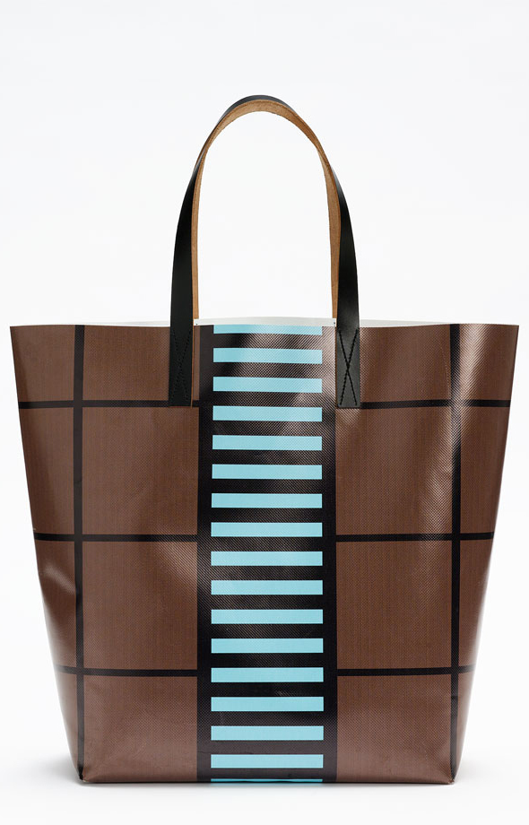 Brown Marni Tote - graphic print