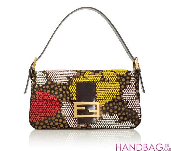 Fendi Resort 2012 Embroidered TOBACCO Baguette
