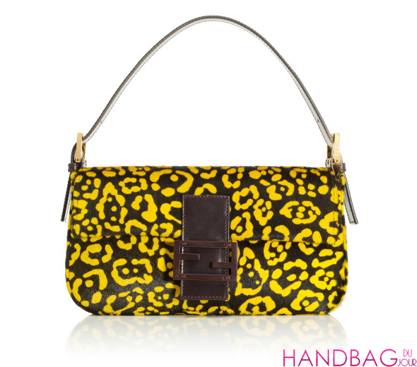 Fendi Resort 2012 Sunflower Calf Hair Baguette