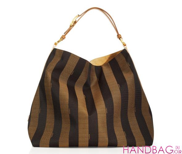 Fendi Striped Hobo Bag