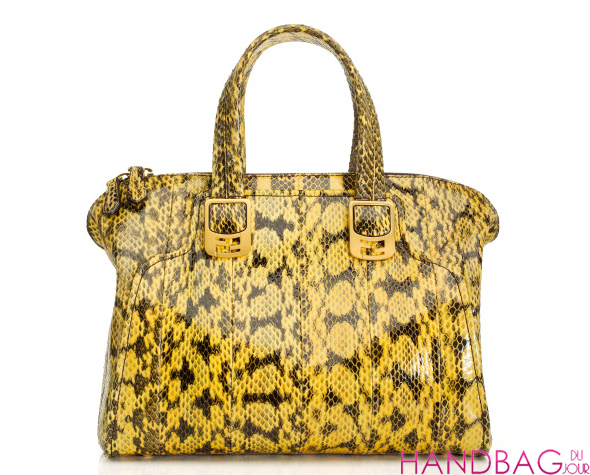 Fendi Resort 2012 Yellow Python Tote