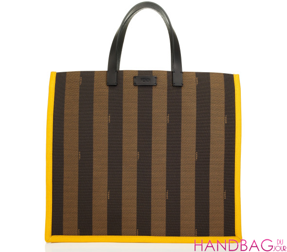 Fendi Resort 2012 Yellow Trim Envelope Tote